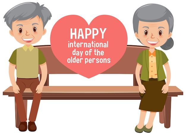 Glücklicher internationaler tag der älteren menschen