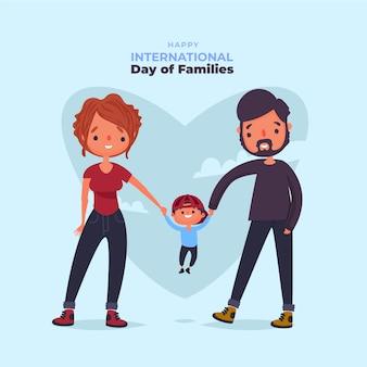 Glücklicher internationaler tag der familien