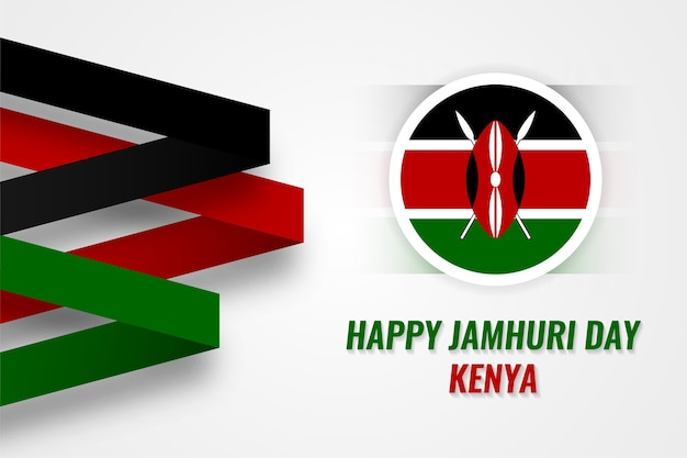 Glücklicher jamhuri tag kenia design