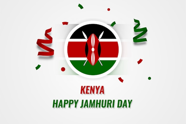 Glücklicher jamhuri tag kenia