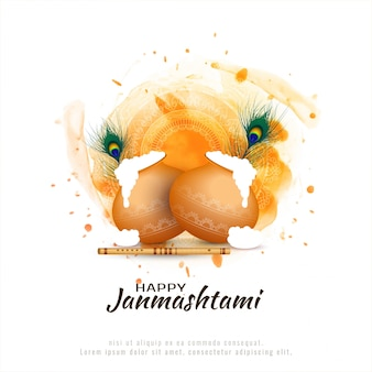 Glücklicher janmashtami festivalhintergrund