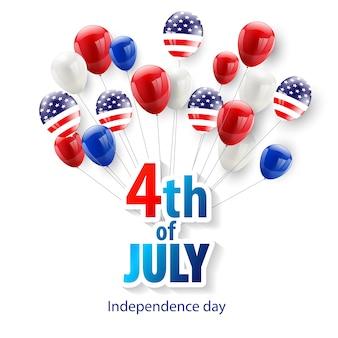 Glücklicher juli 4. feiertagshintergrund