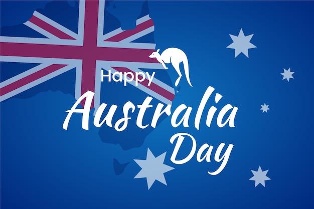 Glücklicher känguru-australien-tag