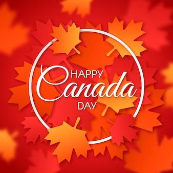 Glücklicher kanada-tag mit ahornblättern