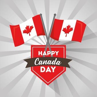Glücklicher kanada-tag