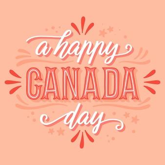 Glücklicher kanada-tagesbeschriftung