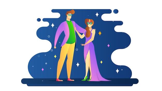 Glücklicher karneval-illustrations-hintergrund