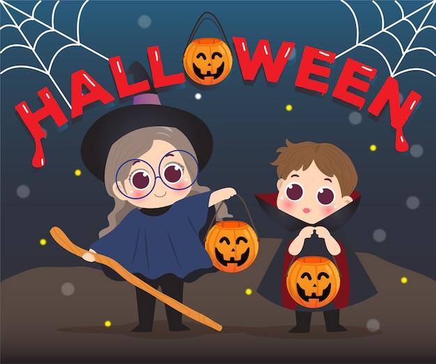 Glücklicher kind halloween tag