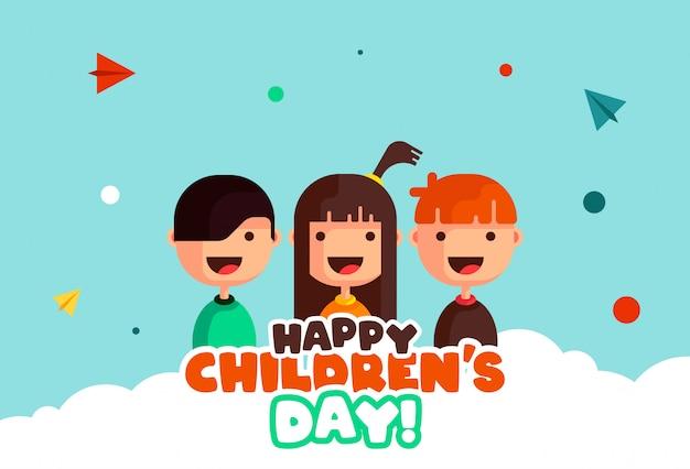 Glücklicher kindertag illustration
