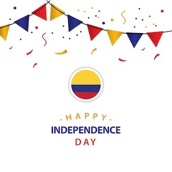 Glücklicher kolumbien-unabhängiger tagesvektor-schablonen-entwurf