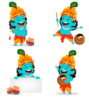 Glücklicher krishna janmashtami