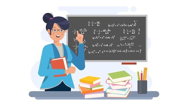 Glücklicher lehrertag-illustrations-hintergrund