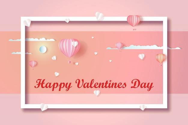 Glücklicher liebeshintergrund des valentinstags