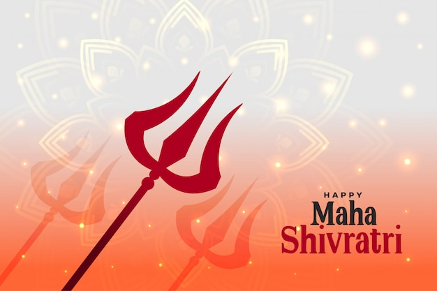 Glücklicher maha shivratri hindu festival hintergrund