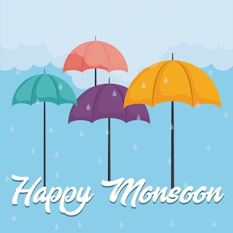 Glücklicher monsun