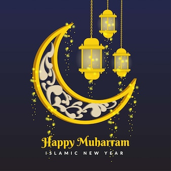 Glücklicher muharram islamischer neujahrshintergrund