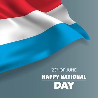 Glücklicher nationalfeiertag grußkarte luxemburg, banner