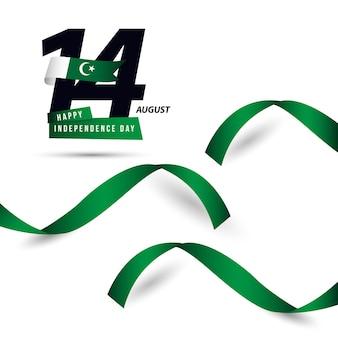 Glücklicher pakistan-unabhängiger tagesvektor-schablonen-entwurf