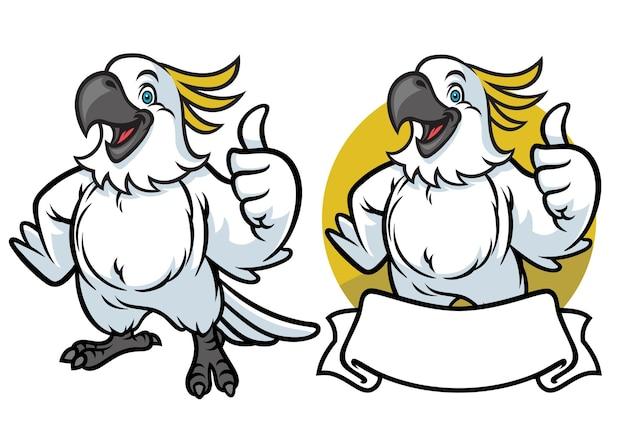 Glücklicher papageienkarikatur