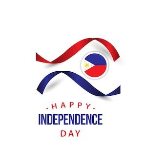 Glücklicher philippinen-unabhängiger tagesvektor-schablonen-entwurf