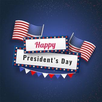 Glücklicher präsident day background.
