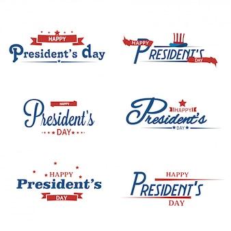 Glücklicher präsident day calligraphy.