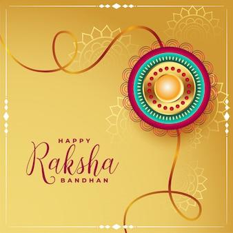 Glücklicher raksha bandhan eithnic grußhintergrund