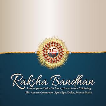 Glücklicher raksha bandhan feierhintergrund mit realistischem rakhi