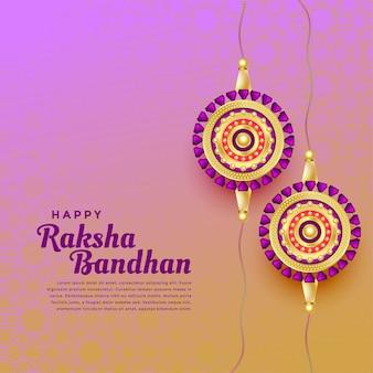 Glücklicher raksha bandhan festivalhintergrund