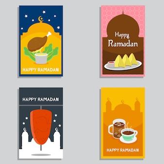 Glücklicher ramadan banner design vector