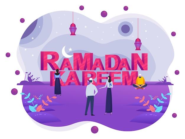 Glücklicher ramadan mubarak gruß banner