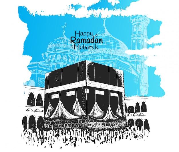 Glücklicher ramadan mubarak