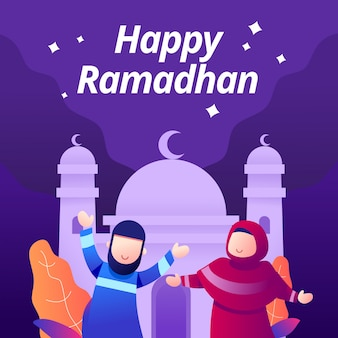 Glücklicher ramadhan kareem