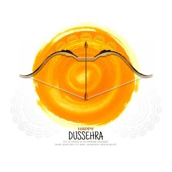 Glücklicher religiöser eleganter hintergrundvektor des dussehra-festivals