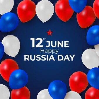 Glücklicher russland-tagesferienhintergrund