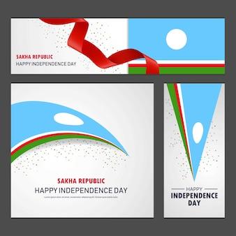 Glücklicher sakha-republik-unabhängigkeitstag