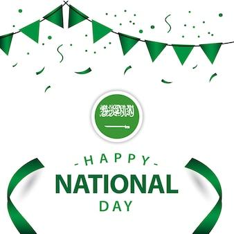 Glücklicher saudi-arabien nationalfeiertags-vektor-schablonen-design