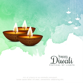 Glücklicher schöner religiöser festivalhintergrund diwali
