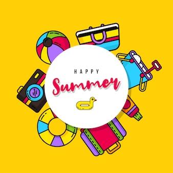 Glücklicher sommer illustration