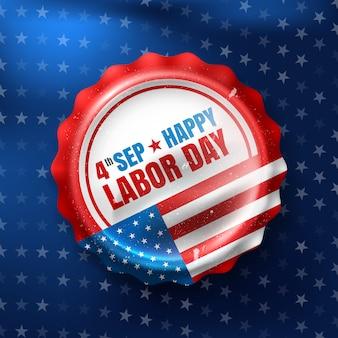 Glücklicher tag der arbeit. 4. september amerikanischer arbeitstag.