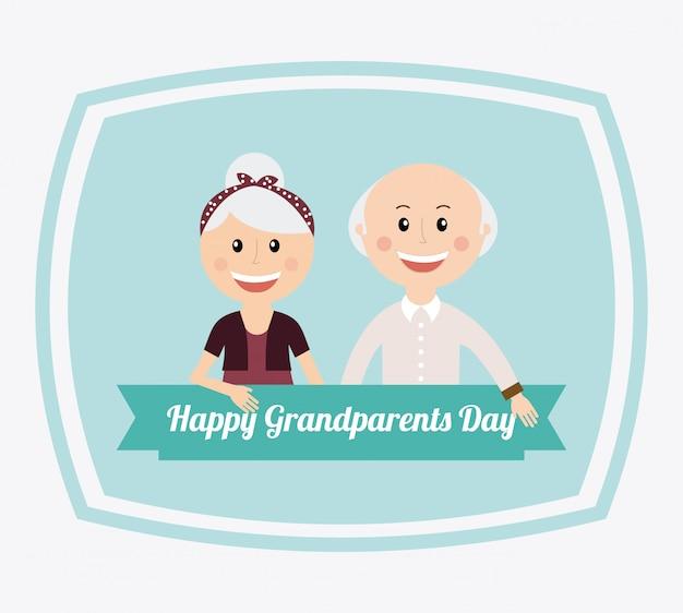 Glücklicher tag der großeltern