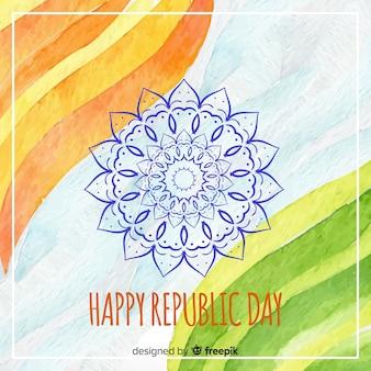 Glücklicher tag der indischen republik