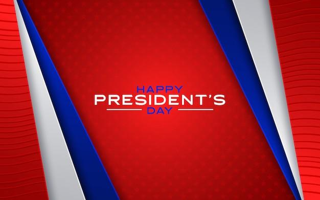 Glücklicher tag der präsidenten