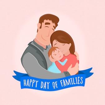 Glücklicher tag des familienhintergrundes