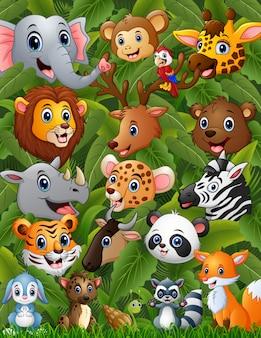 Glücklicher tierwald zusammen