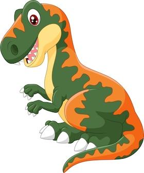 Glücklicher tyrannosaurus der karikatur