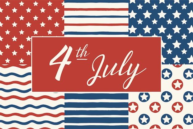 Glücklicher unabhängigkeitstag 4. juli