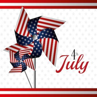 Glücklicher unabhängigkeitstag am 4. juli usa-feier