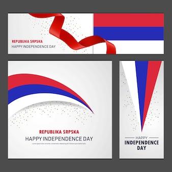 Glücklicher unabhängigkeitstag der republika srpska