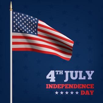 Glücklicher unabhängigkeitstag der usa am 4. juli